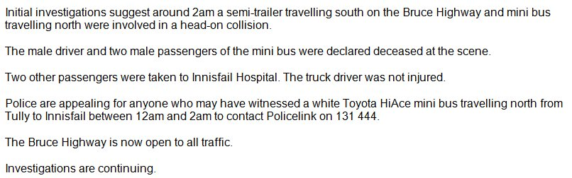 The Forensic Crash Unit is appealing for witnesses following a fatal traffic crash at El Arish. #9News