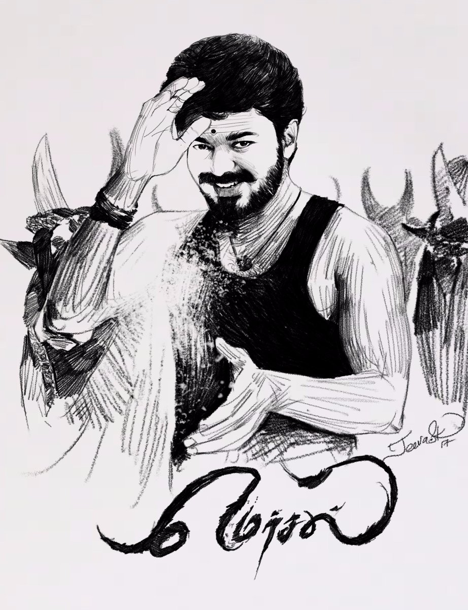 Jeeva Artist On Twitter Today S Sketch Our Thalapathy61 Vijay