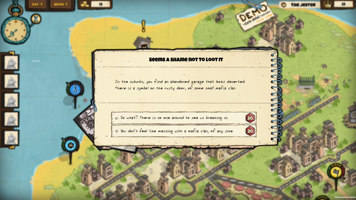 We have random events with multiple options. You may throw your money at the screen, now  http:// kck.st/2slsSJH  &nbsp;   #indiegame #indiegamede<br>http://pic.twitter.com/CItwRVffPL