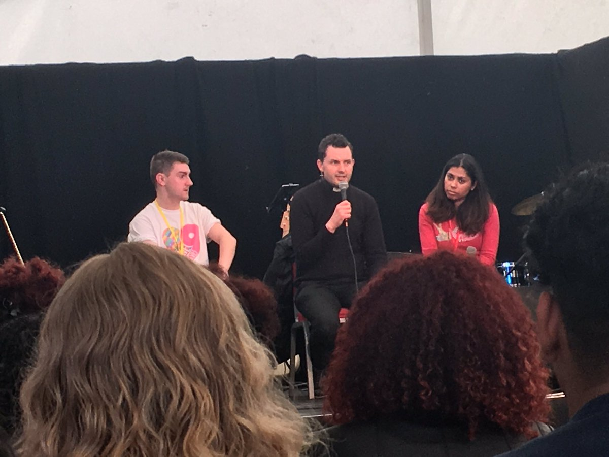 &quot;A priest is a man for others&quot; John Paul II - @FatherFrankie answering what inspired him to be a priest at #Brightlights #blfestival<br>http://pic.twitter.com/oobeEg2Bco