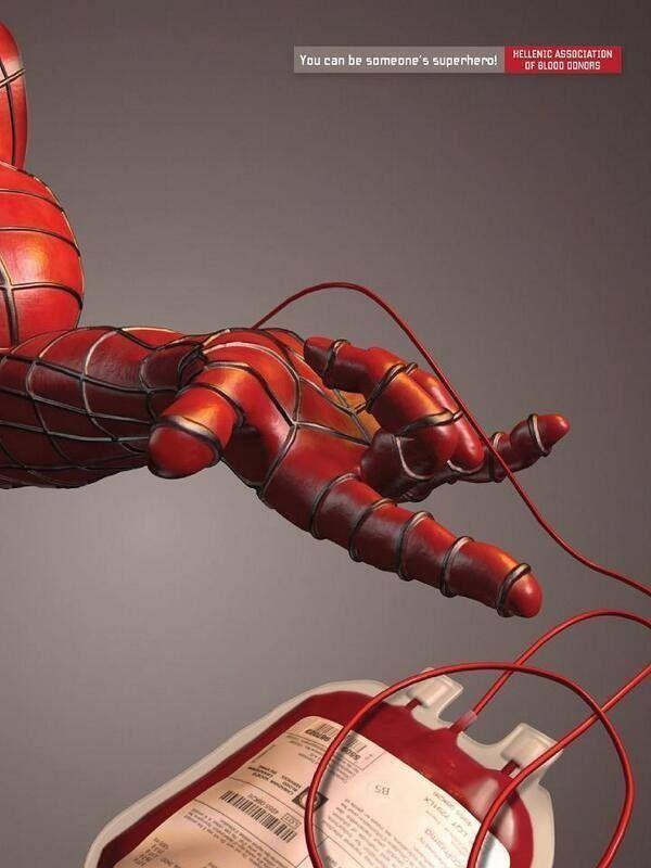 'Devenez le super-héros de quelqu'un' Pas nouveau, mais toujours très efficace ce print 👌