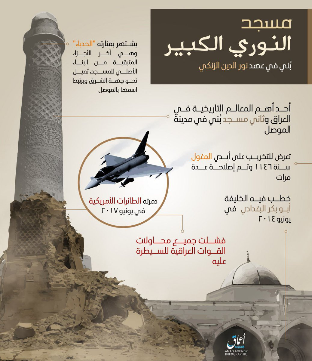 #Amaq really tries its best to maintain the airstrike narrative surrounding #Mosul mosque<br>http://pic.twitter.com/sLPRhakX0j