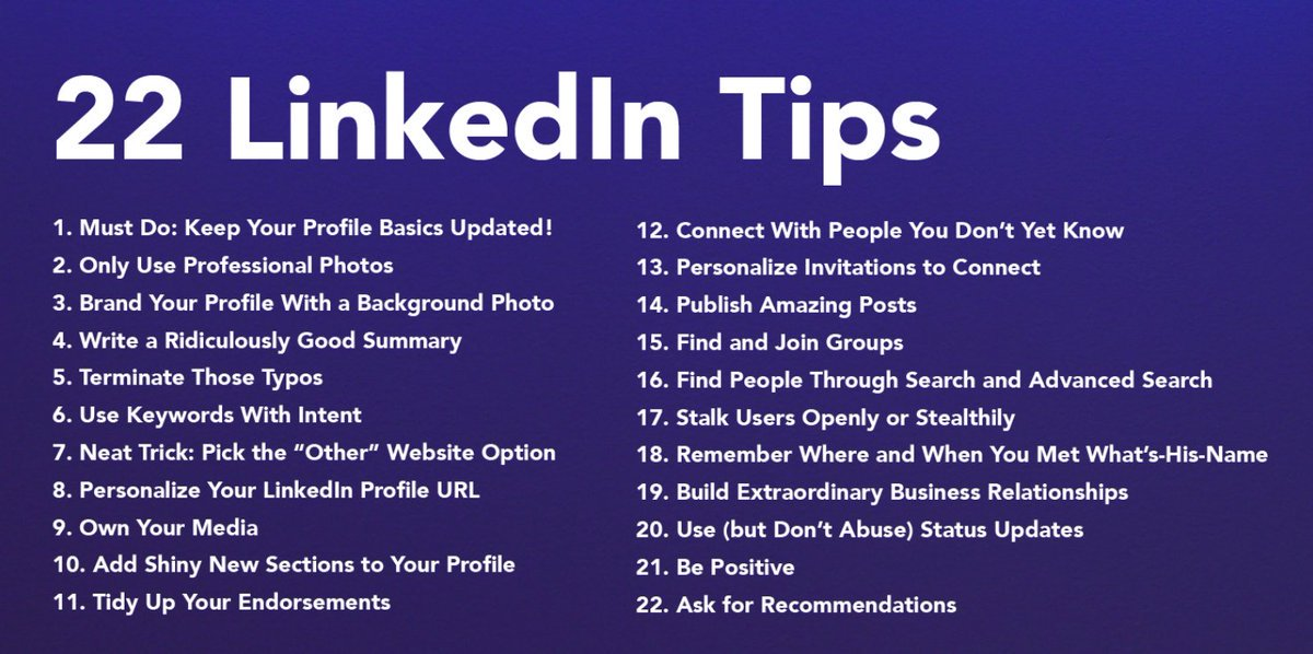 22 top tips to effectively boost your #LinkedIn profile   http:// klou.tt/mal3tidkhuzm  &nbsp;   by @larrykim #PersonalBranding<br>http://pic.twitter.com/gR7DeK2hVr