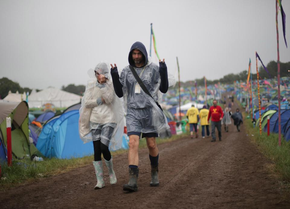 The heatwave is over - but it just wouldn't be @GlastoFest without mud 🙈https://t.co/tzbpksdX29