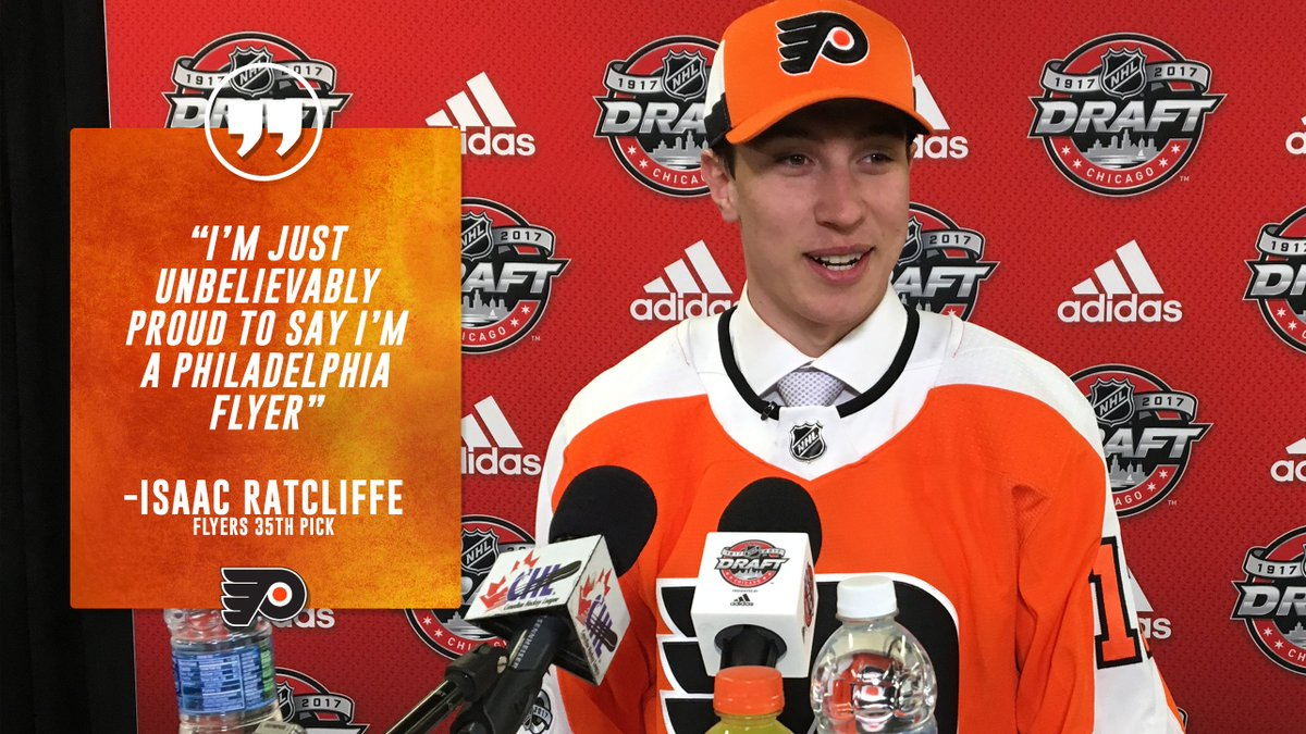 Isaac Ratcliffe on being selected by the #Flyers😍 https://t.co/3OT5vSp...