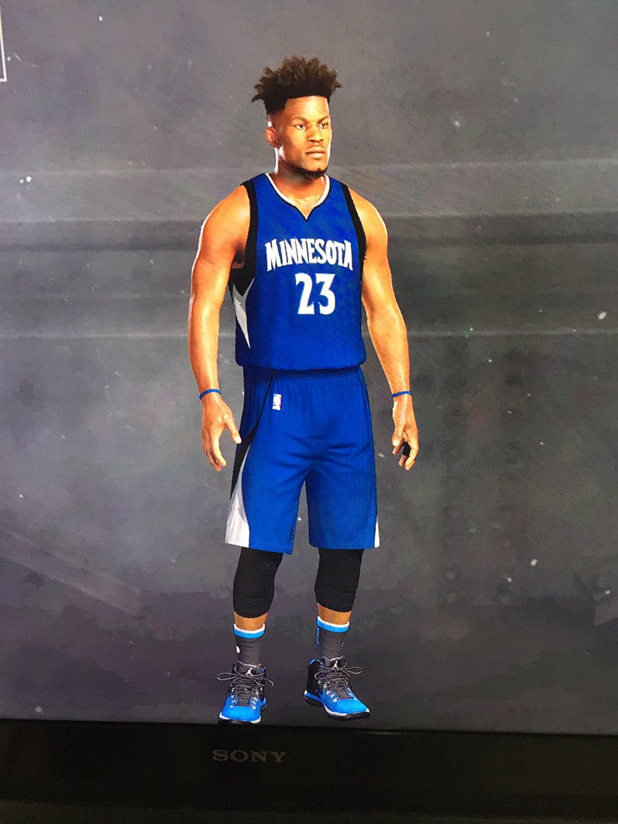 Playing around on @NBA2K Jimmy Butler looks good in blue! #PowerOfThePack  #WeComin<br>http://pic.twitter.com/MfkxXobkQx