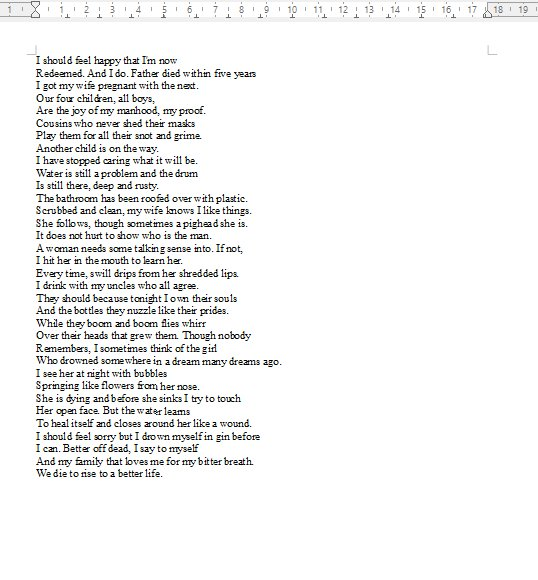 the conversion poem