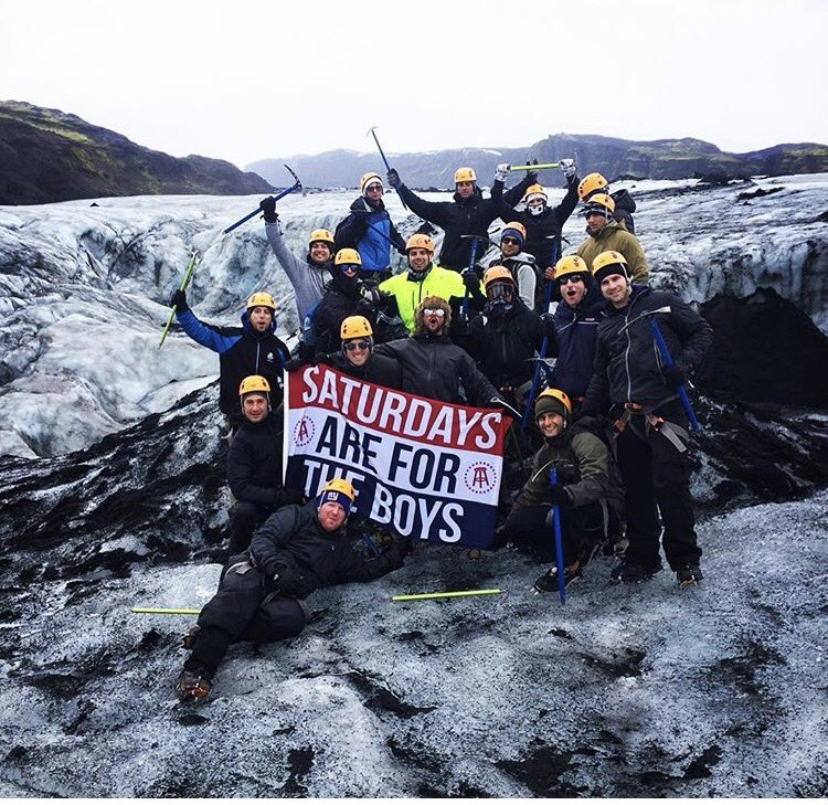 #EMTC meets #SAFTB live from a glacier in Iceland #SaturdaysAreForTheBoys @KFCBarstool @FeitsBarstool @UncleChaps @Kmarkobarstool<br>http://pic.twitter.com/YUwFlSVs4Q