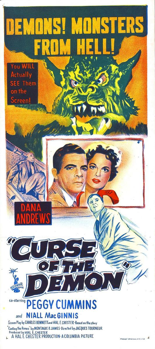 CURSE OF THE DEMON (1957) from HELL! #CursedWeekEnd #horror #poster<br>http://pic.twitter.com/C5t7bVWlP6