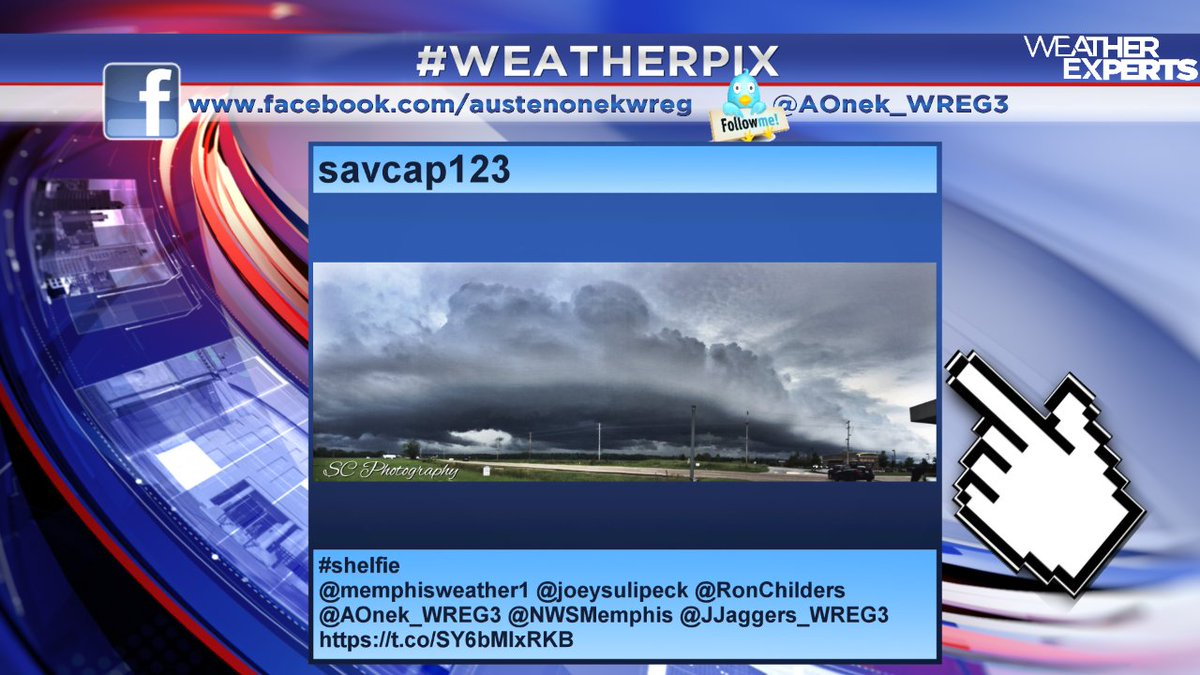 Thanks to @3onyourside viewer @savcap123 for this great shelf cloud picture (or 'shelfie') from Friday.