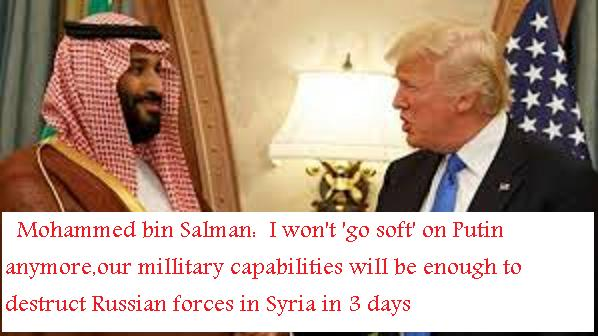 #hilarious   #ISRAEL #US  DESTROYING #SaudiArabia by using her V #Russia while siphoning saudi oil wealth dry    http://www. awdnews.com/political/saud i-prince-mohammed-bin-salman-i-won-t-go-soft-on-putin-anymore,our-millitary-capabilities-will-be-enough-to-destruct-russian-forces-in-syria-in-3-days &nbsp; … <br>http://pic.twitter.com/EFfT9IlZYO