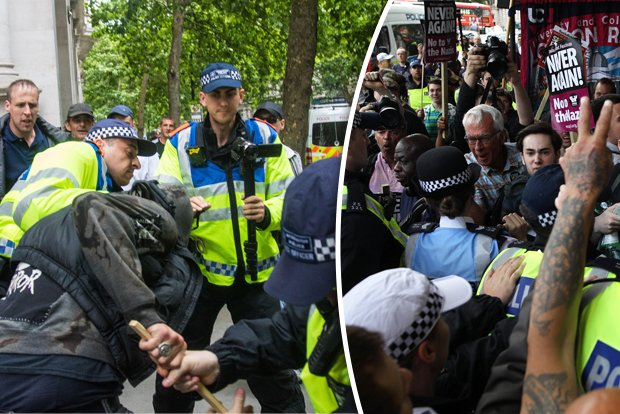 London LOCKDOWN: Violent clashes in capital as EDL marches spark mayhem  https://t.co/9SJ40Qb6CB
