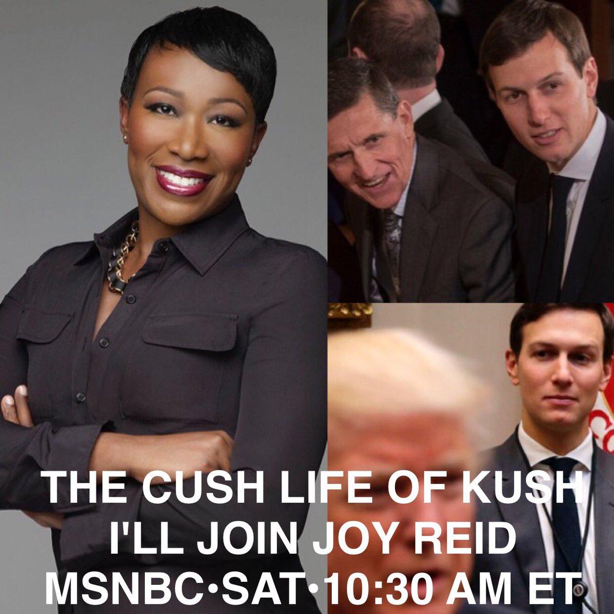 Tune in! I&#39;m joining fabulous @JoyAnnReid on her fabulous show @amjoyshow on @MSNBC at 10:30am ET. #JaredKushner #DonaldTrump <br>http://pic.twitter.com/YzF0Q2vhII