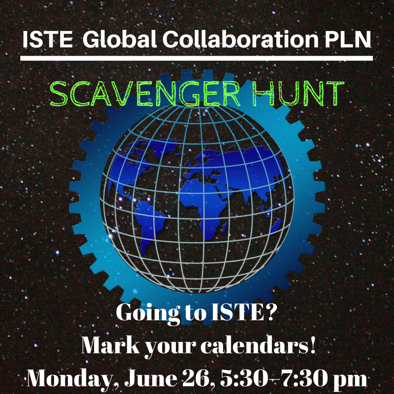 Same. Looking for fun Monday night, sign up for the scavenger hunt if you haven&#39;t already #ISTEGlobalPLN <br>http://pic.twitter.com/uNMdSNlwDI