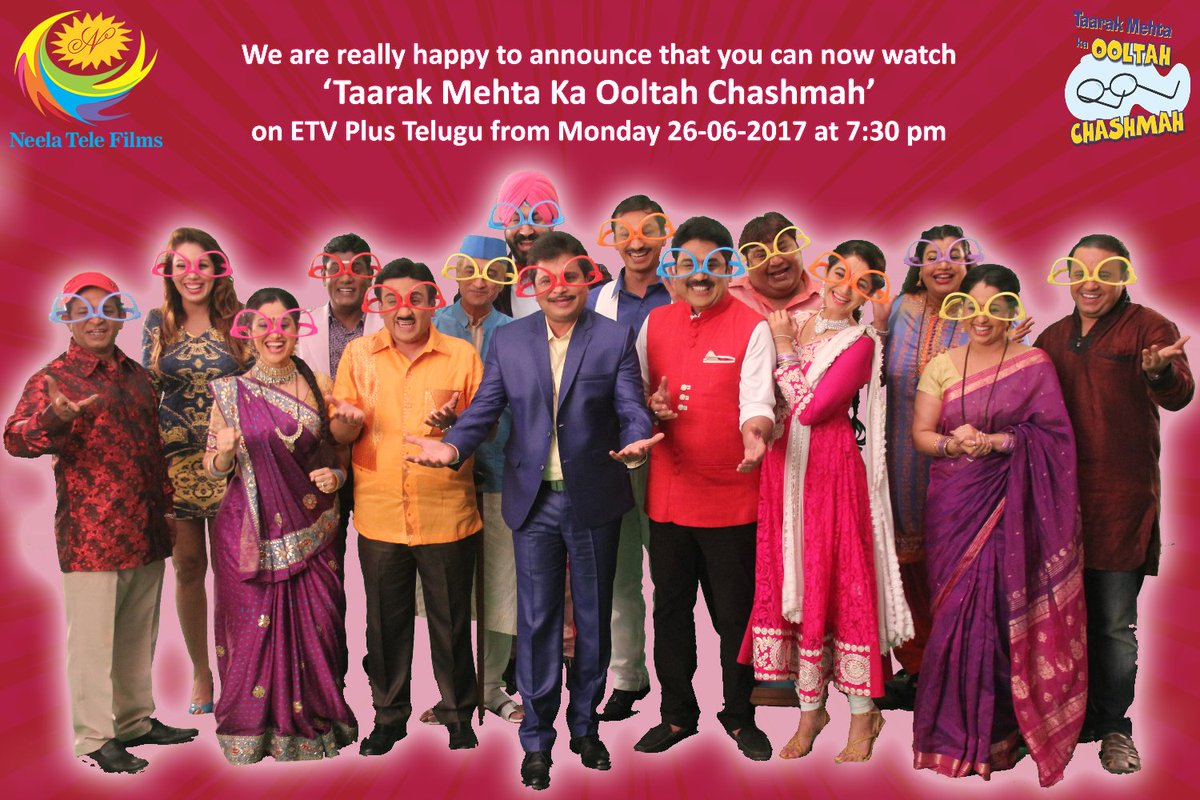 We have a new reason to cheer!! #TMKOC is now coming on @etvplusindia from Monday 26-06-17 at 7:30 pm!!  #StayTuned <br>http://pic.twitter.com/uRELJ8QnsM