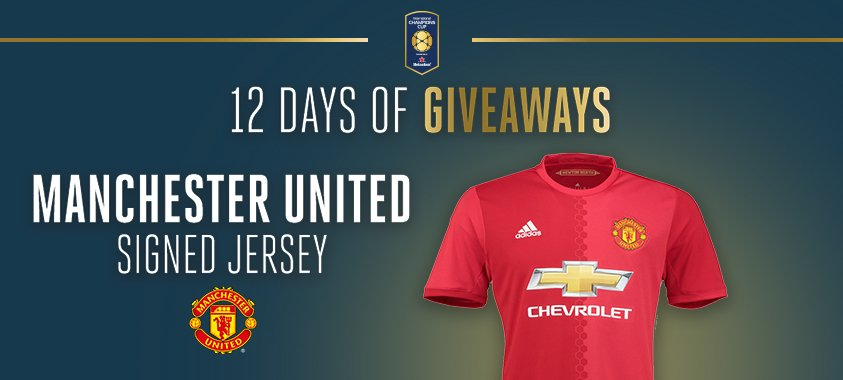 It&#39;s DAY 4 of the &#39;12 Days of Giveaways!&#39; Retweet &amp; enter for your chance to WIN A #ManchesterUnited SIGNED JERSEY   https:// goo.gl/tD8Zf9  &nbsp;  <br>http://pic.twitter.com/W7xO45OT7Q