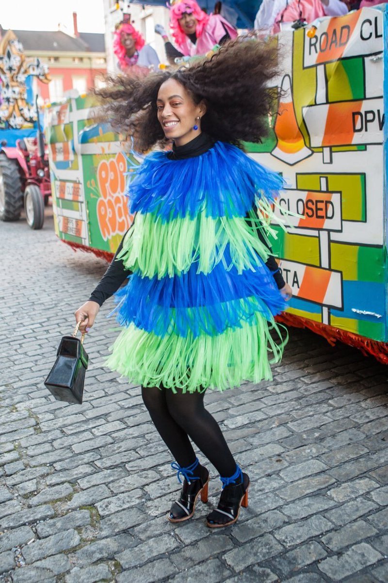 Solange has the kind of style that starts with what she's wearing and...