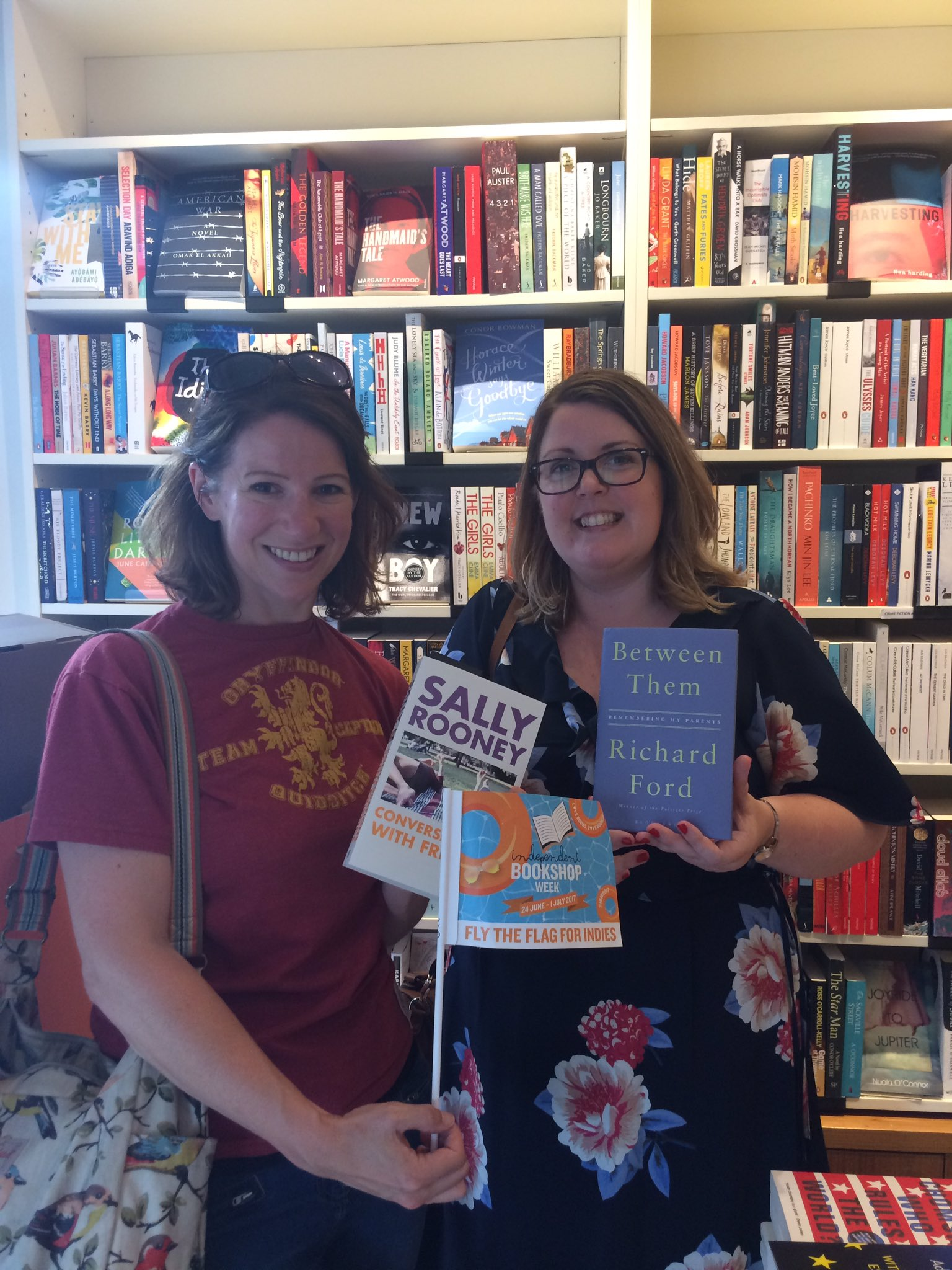 Stop no. 7: Gwen at @CompanyofBooks who recommended Conversations With Friends & Between Them! #ibw17 #ibw2017 #BookshopCrawl https://t.co/lCjxMQJdel
