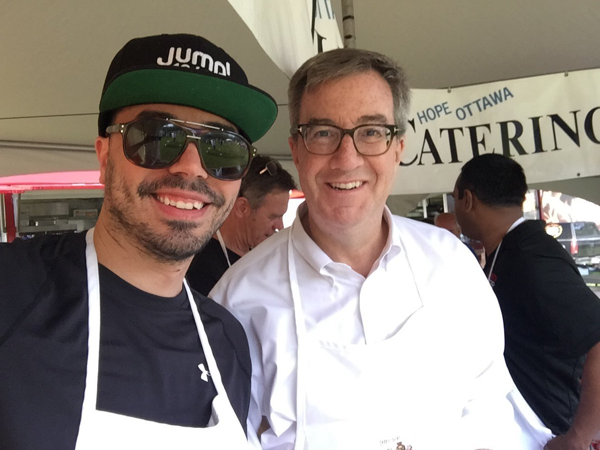 At your service!!! @tonystarkradio and @JimWatsonOttawa serving up #br...