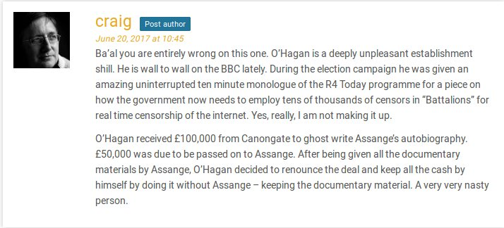 What&#39;s this? Andrew #OHagan cheated #Assange out of £50,000. Hmm, that does explain his motivation in writing his #Ghosting lies. #WikiLeaks<br>http://pic.twitter.com/DxhbZ3E3C3