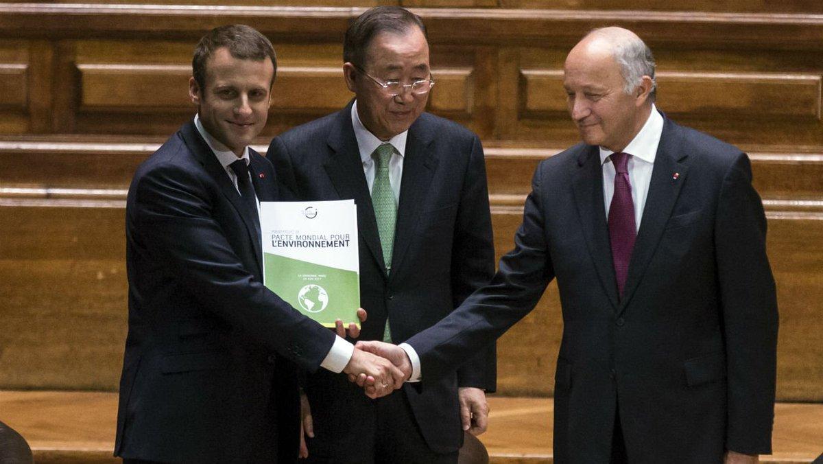 Emmanuel Macron proposera un pacte pour l'environnement à l'ONU https://t.co/1vA2OJTWjv