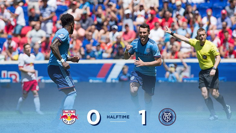 A strong first-half showing from #NYCFC has earned the lead with anoth...