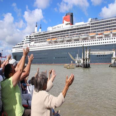 Saint-Nazaire. Le Queen Mary 2 de retour au port! [PHOTOS] https://t.co/1QendVMnU2