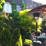 Can't get away this weekend? Escape to our patio #staycation #secretgarden #realfoodforcomfort