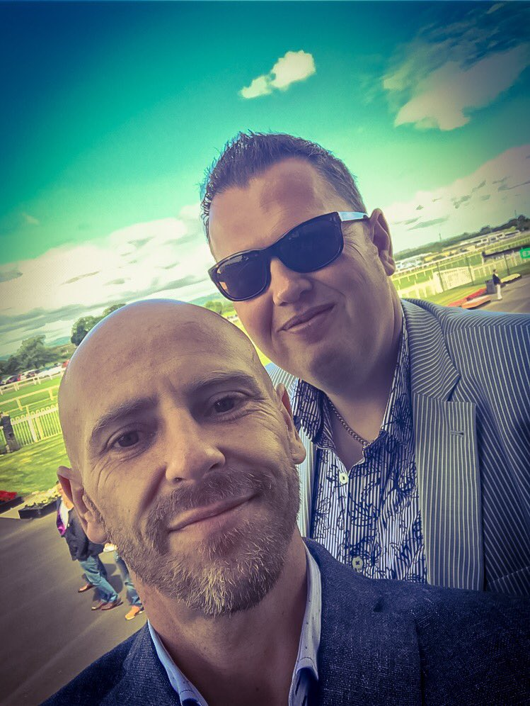 Big thanks to Andrew for inviting me to the Derby  today had a lovely day #geegees #thanks #cheeseboard #food<br>http://pic.twitter.com/JhkWucjjyW