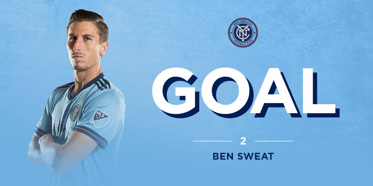 And it's @22BenSweat with an AMAZING header that ducks in at the back...