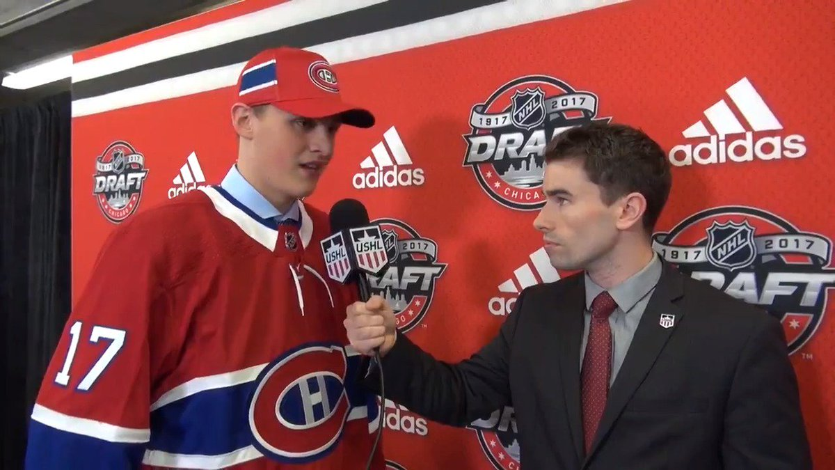 #NHLDraft | Cayden Primeau discusses being selected by the @CanadiensM...