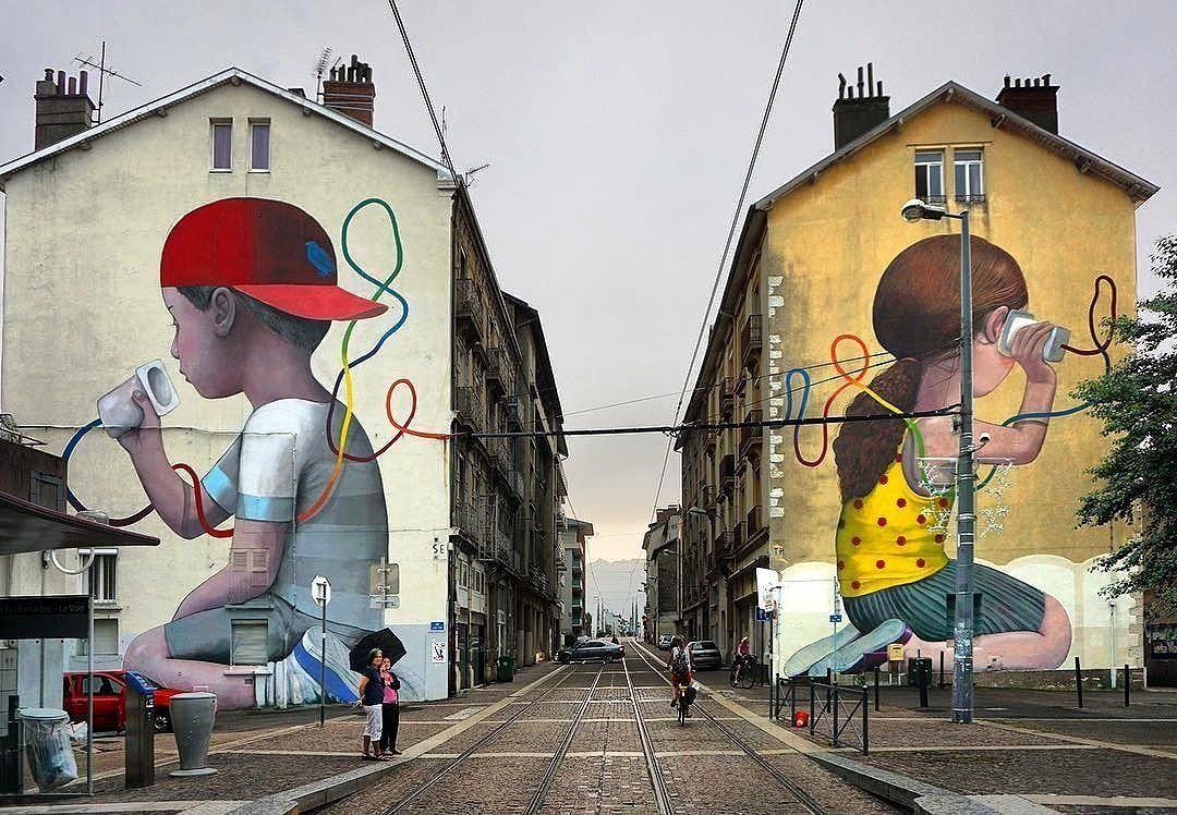 Sublime #streetart à Grenoble par Julien Malland (alias Seth)