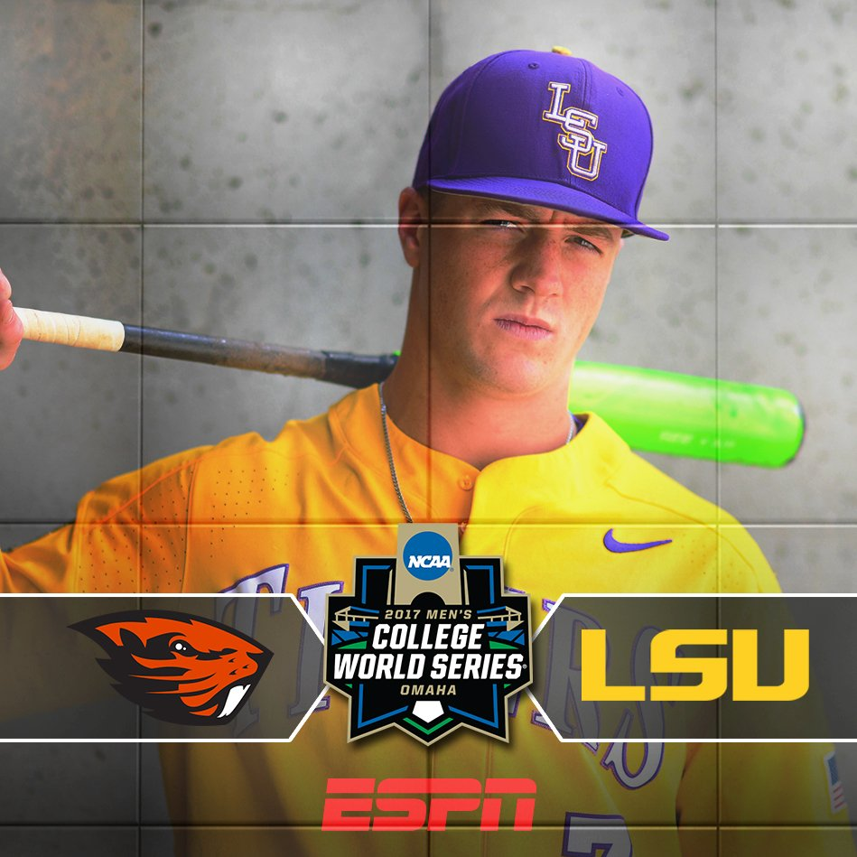 This is it ... #GeauxTigers!!  Oregon St vs @LSUbaseball  Watch Game 3...