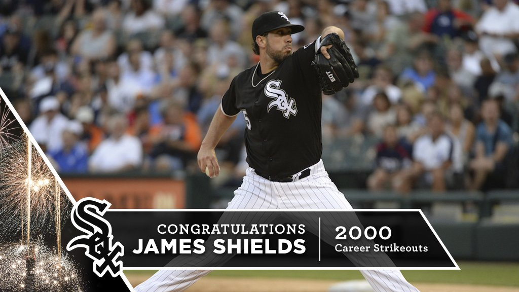 Congrats, James Shields – 2,000 career strikeouts! https://t.co/BjBVNo...