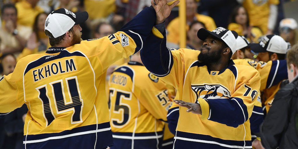 Preds' David Poile: We won't touch our defense in the near future. htt...