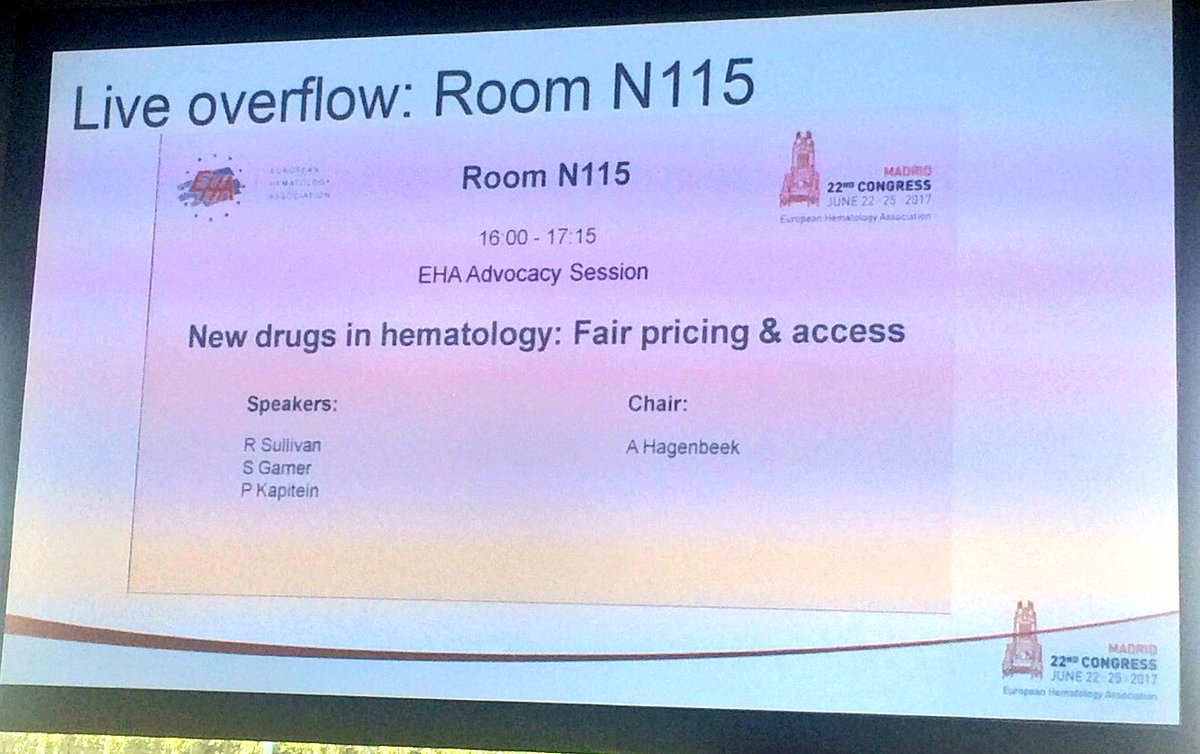 &quot;#Access is the complete process until #patient can get the drug&quot; #patientadvocates session #eha22 #cml #leukemia #hematology #innovation<br>http://pic.twitter.com/opVT2pLbeC
