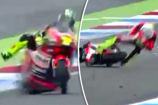 Watch MotoGP star fly off bike in high speed horror crash at Dutch Grand Prix https://t.co/iING6ykgcy #MotoGP #Moto2