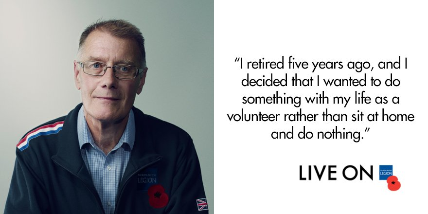 Read how Ian dedicated his free time to supporting ex-Service personne...