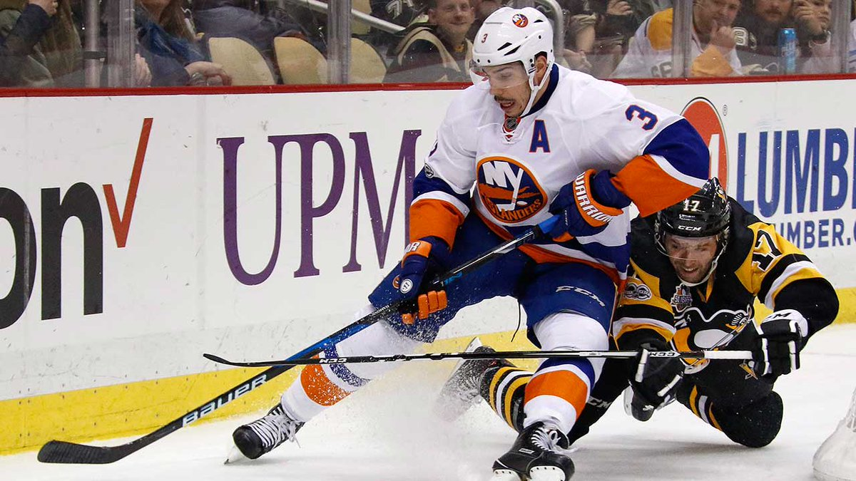 BREAKING: Flames to acquire defenceman Travis Hamonic from Islanders....