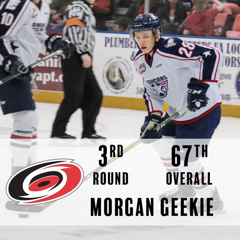 Congratulations @M_14Geekie! 67th overall, headed to the @NHLCanes! #NHLDraft https://t.co/IcAmuNaZKt