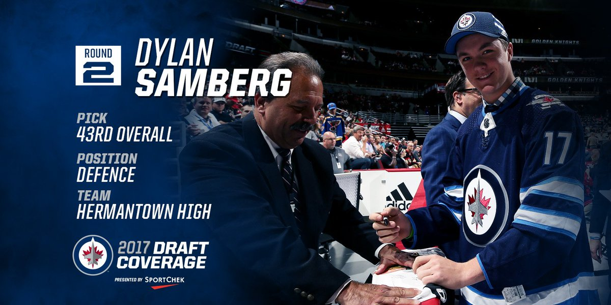 Welcome to the #NHLJets, Dylan Samberg! https://t.co/eN1CVcA5e8