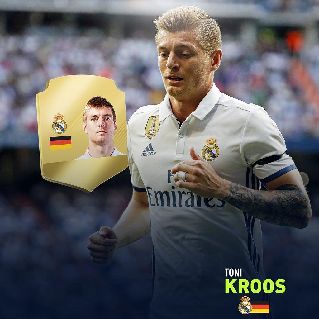 What rating does &#39; Tony Kroos Control &#39; deserve in FIFA18 ?! #ratings #predictions #laliga #realmadridfc #Tonikroos #Ronaldo<br>http://pic.twitter.com/IGOtRYSgj0