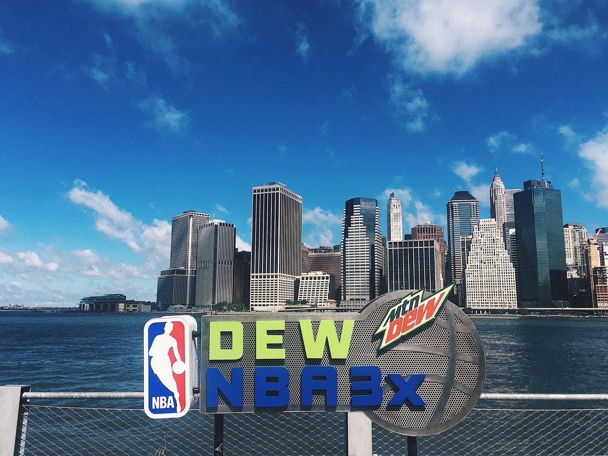 COME THROUGH! #DewNBA3X NYC has officially kicked off at Brooklyn Brid...
