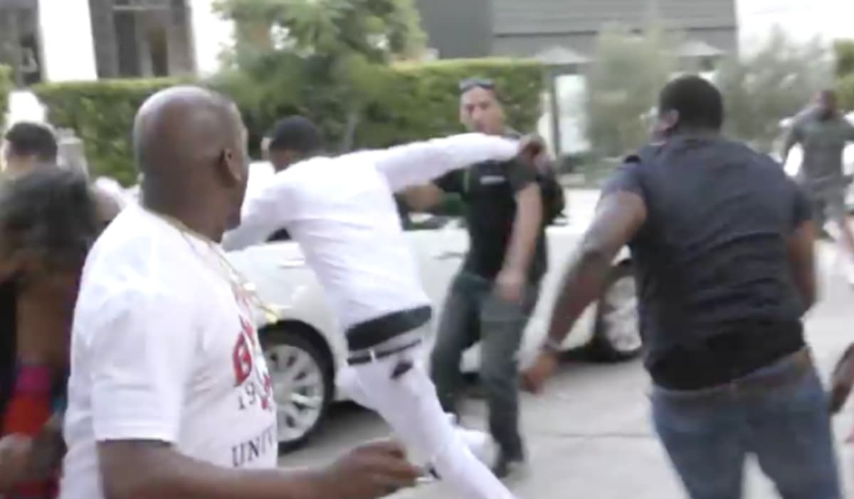 Video shows moment Safaree was allegedly attacked by Meek Mill's crew....