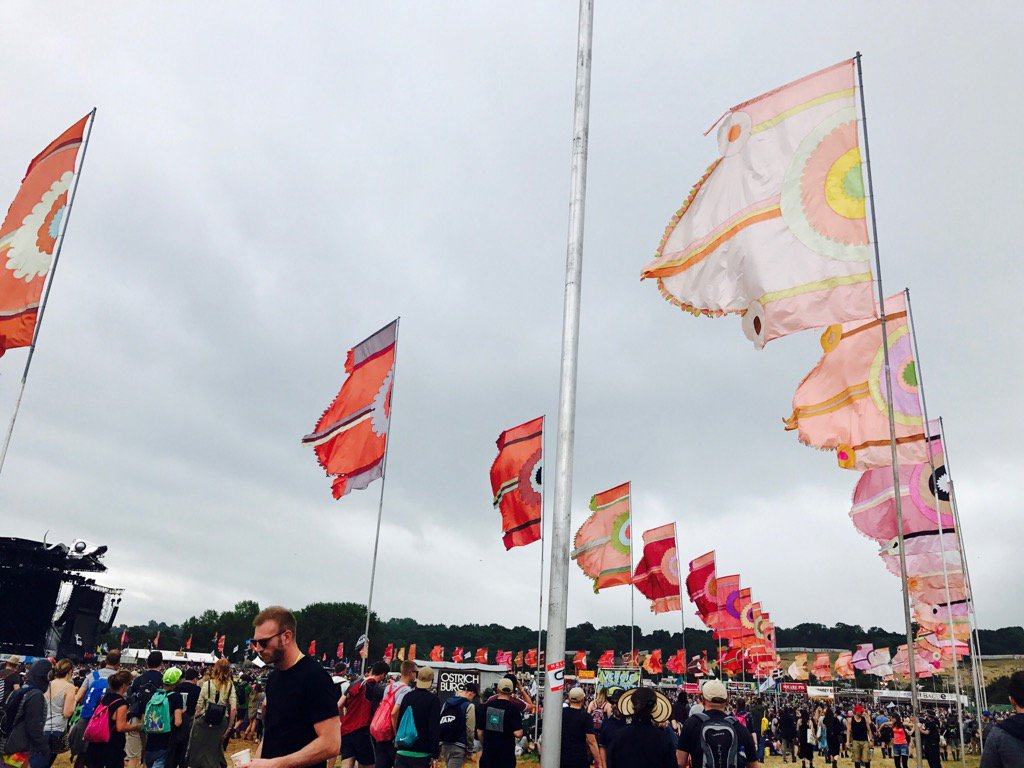 Flags flying for Kaiser Chiefs on The Other Stage KG https://t.co/FBLp...