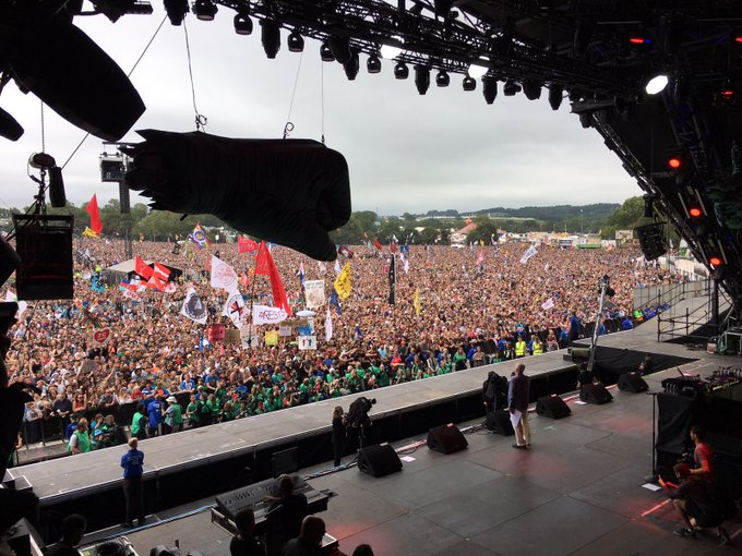 Thank you #Glastonbury for inviting me to speak on the Pyramid Stage about how, together, we can build a country #ForTheMany, not the few.
