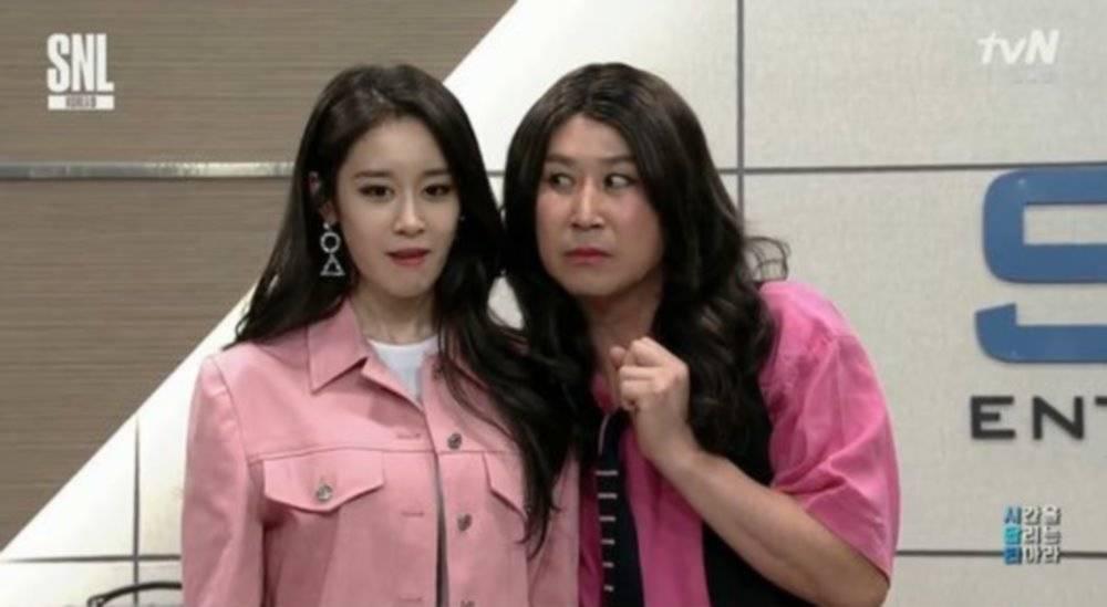 Shin Dong Yup pokes fun at T-ARA's bullying controversy in 'SNL Korea'...