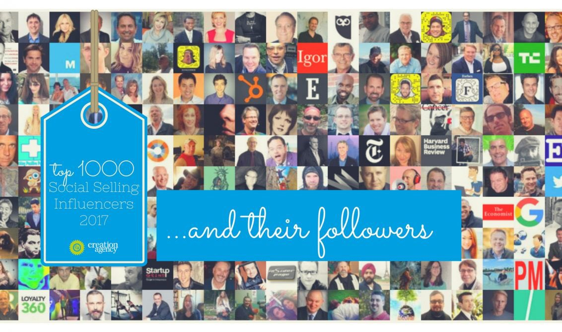 The #top #influencers in #SocialSelling &amp; what to do with the #Data @Timothy_Hughes @NealSchaffer @JackKosakowski  https:// blog.creationagency.com/top-1000-socia l-selling-influencers/ &nbsp; … <br>http://pic.twitter.com/vvTtC8HhSD