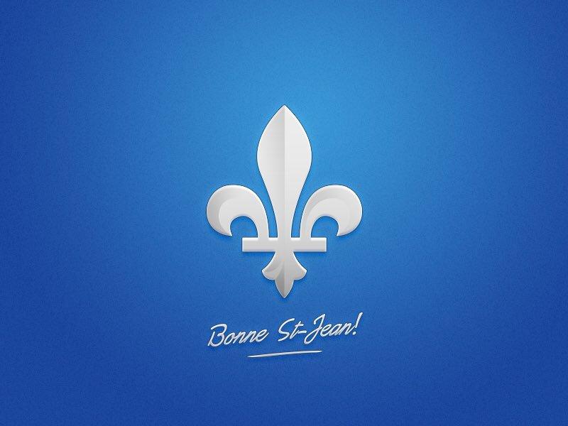 Bonne fête de la Saint-Jean Baptiste à tous les Québécois et Canadiens...