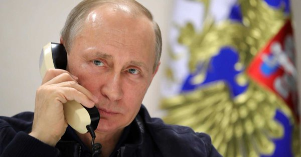 Russian president Vladimir Putin just called to say he loves you.
